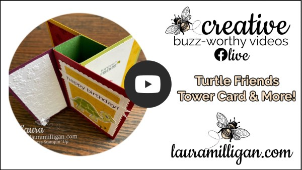 Laura Milligan YouTube Thumbnail - Turtle Friends Tower Card