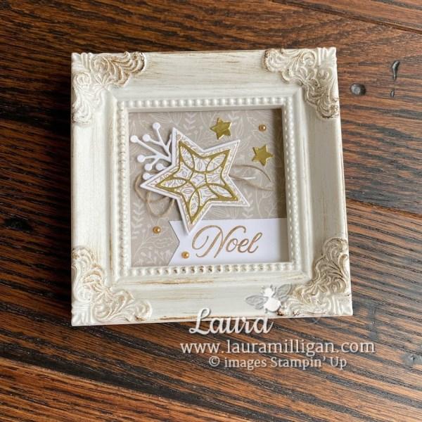 Noel Christmas Frame by Laura Milligan Tidings & Trimmings Bundle Stampin' Up!