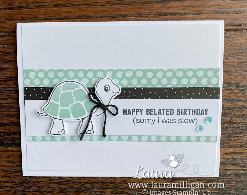 Bee Creative Tutorial – Turtle Friends Birthday Card