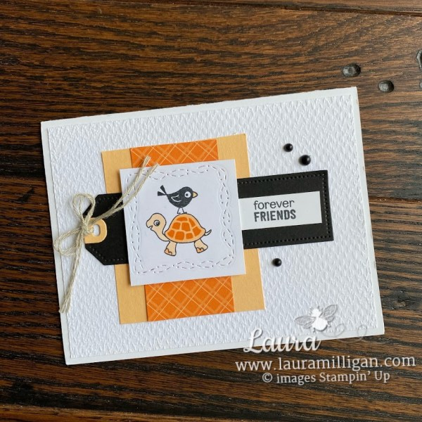 turlte friends card by Laura Milligan Stampin' Up! handmade cards
