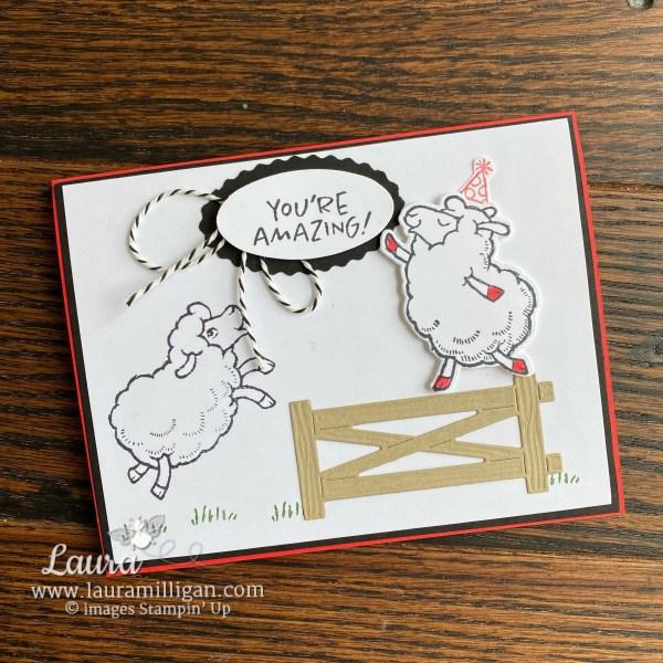 Counting Sheep Stamp Set and Sheep Dies Free SAB