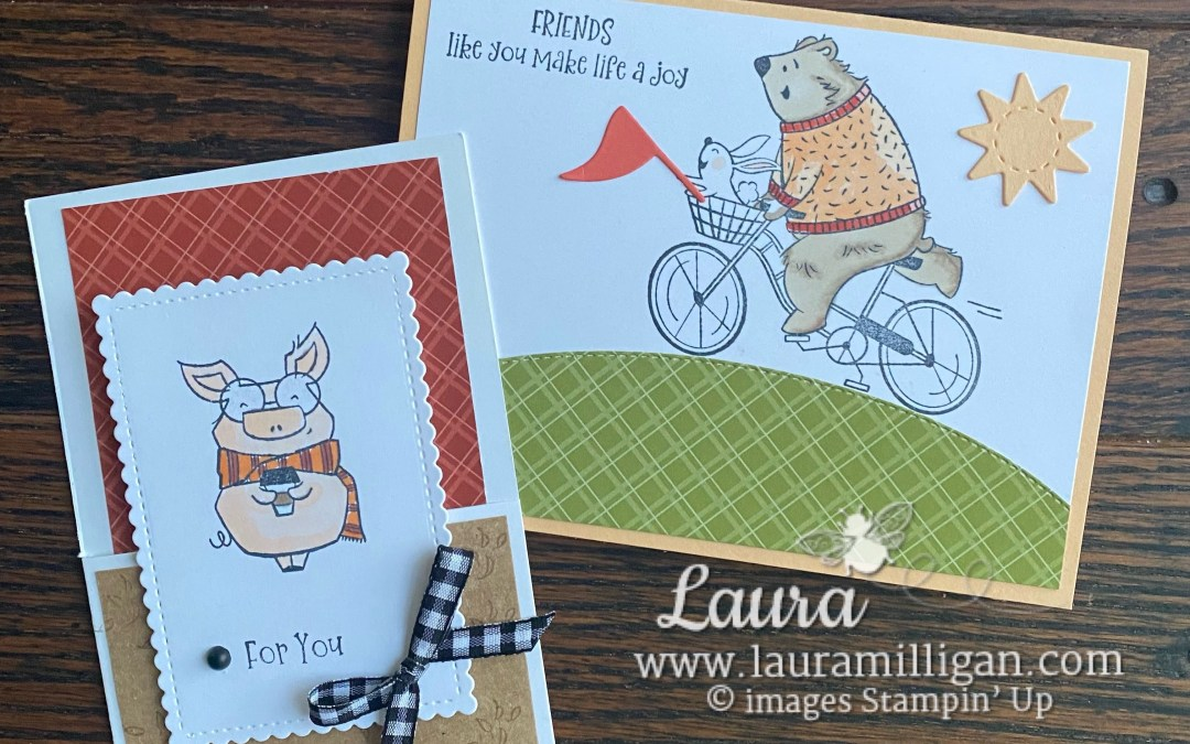 Gift Card and Card Created with the Joyful Life Stamp Set