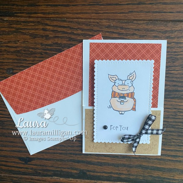 Joyful Life Stamp Set by Stampin' Up! Note Card by Laura Milligan Earn Free Bees