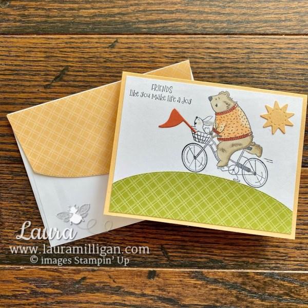 Basic Borders Dies for Envelope Flap Laura Milligan Stampin' Up! Demonstrator Earn Free Product