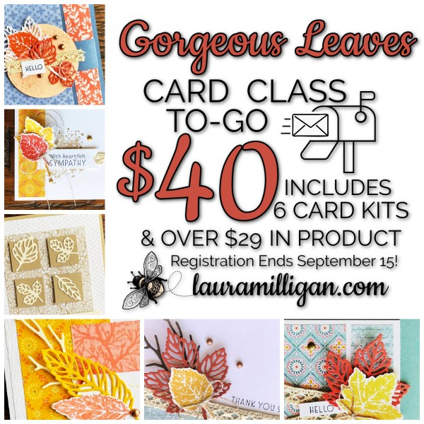 Gorgeous Leaves Card Class to Go - Laura Milligan
