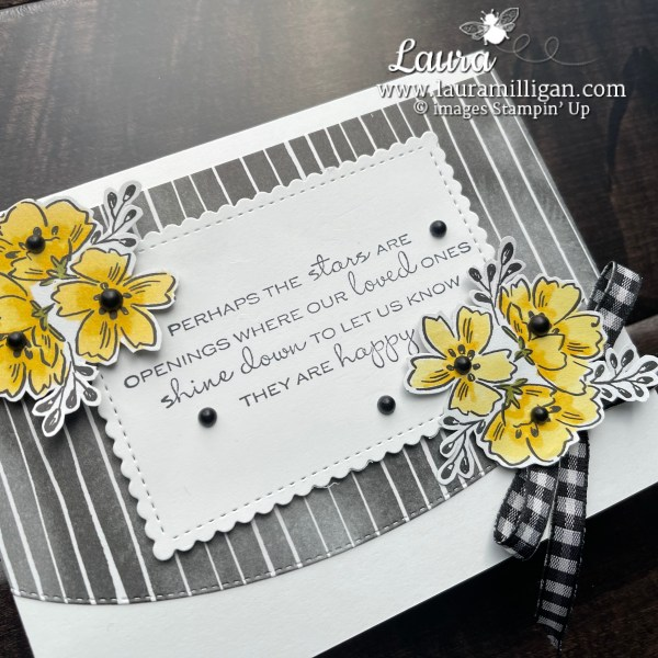 In Your Words Sale-a-Bration Stamp Set by Stampin' Up! Beautifully Penned DSP Laura Milligan Id Rather Bee Stampin