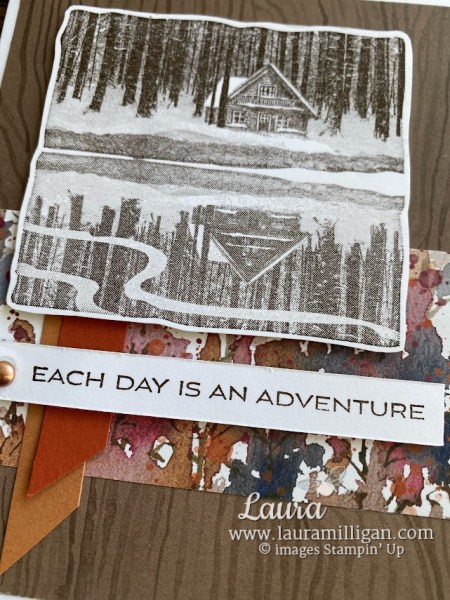 Reflected in Nature Card created by Laura Milligan Hand Made Cards Stampin' Up!