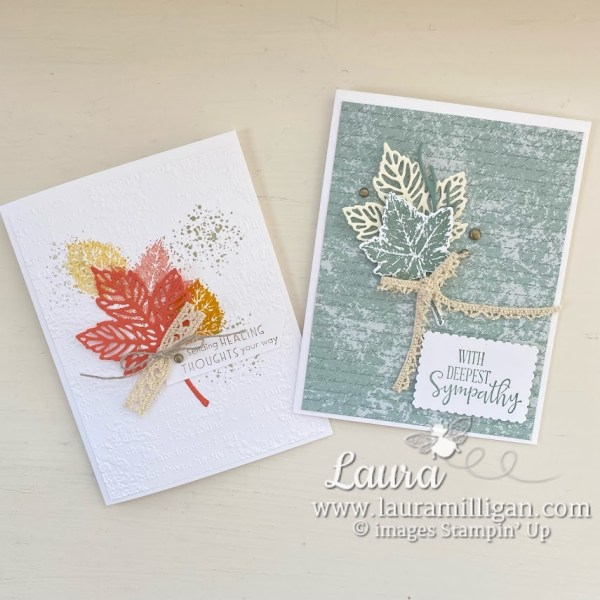 create hand made cards with Gorgeous Leaves Bundle Stampin' Up! Laura Milligan demonstrator