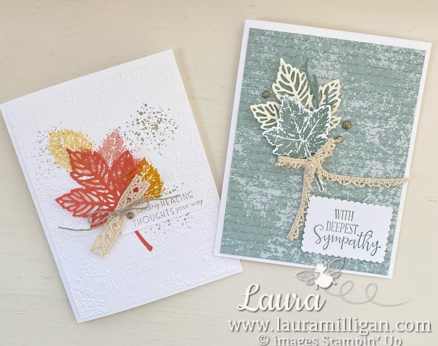 Stampin' Up! Gorgeous Leaves Bundle Fall Card Duo
