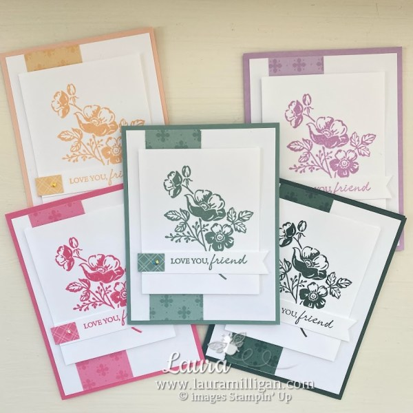 create these cards Stampin' Up! IN Colors Laura Milligan Demonstrator Shaded Summer