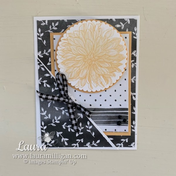 create this pocket card by Laura Milligan by Stampin' Up! Delicate Dahlias Earn Free Product