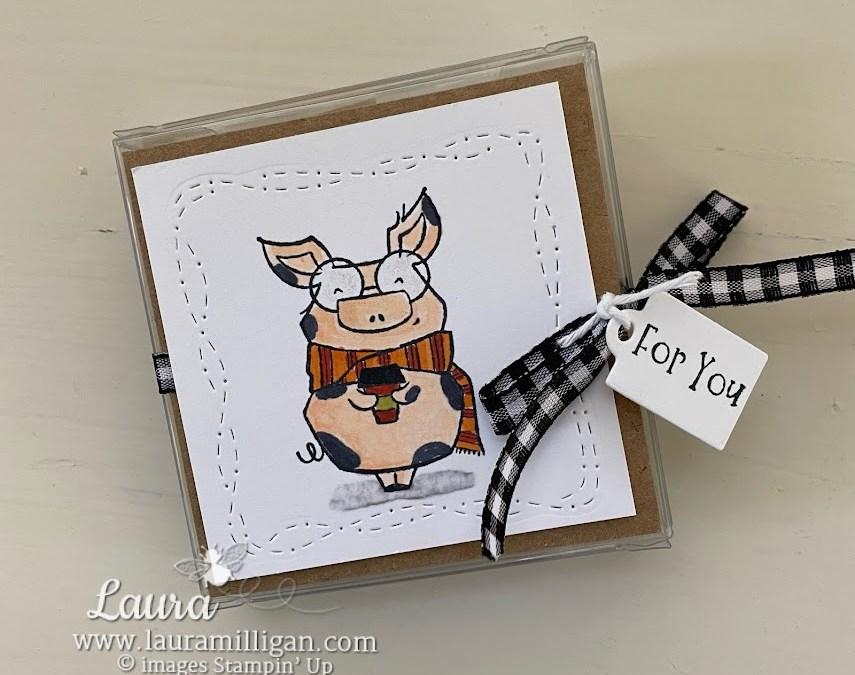 Joyful Life Cute Piggy Tea Bag Holder