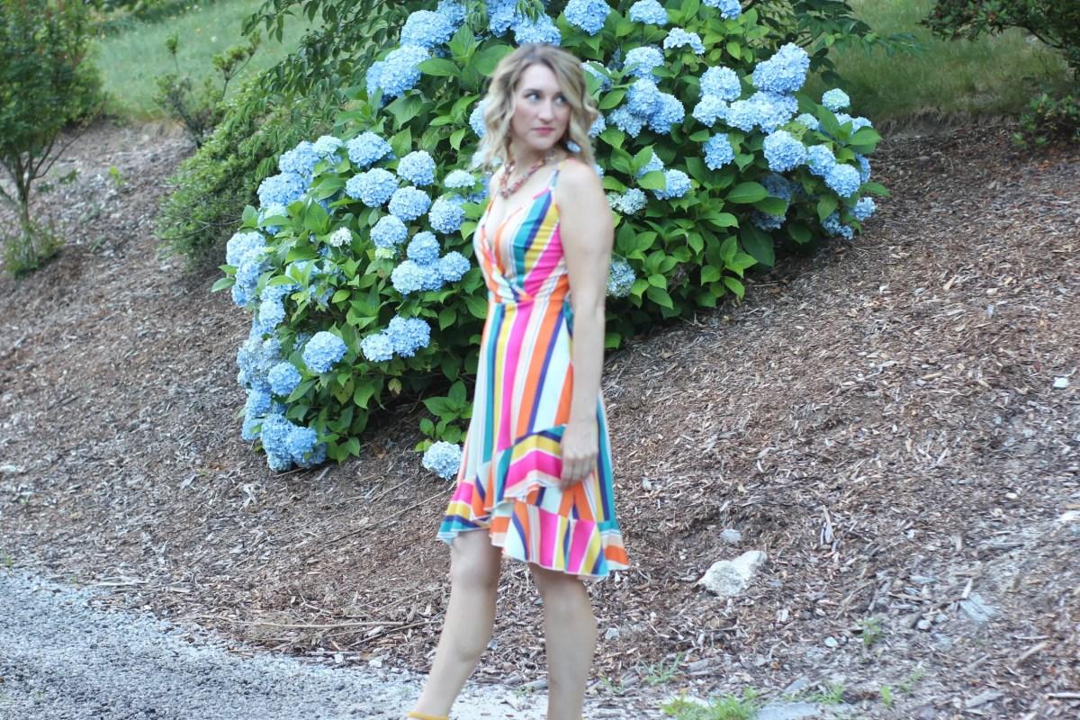 Amazon Fashion Find-Rainbow Stripe Dress