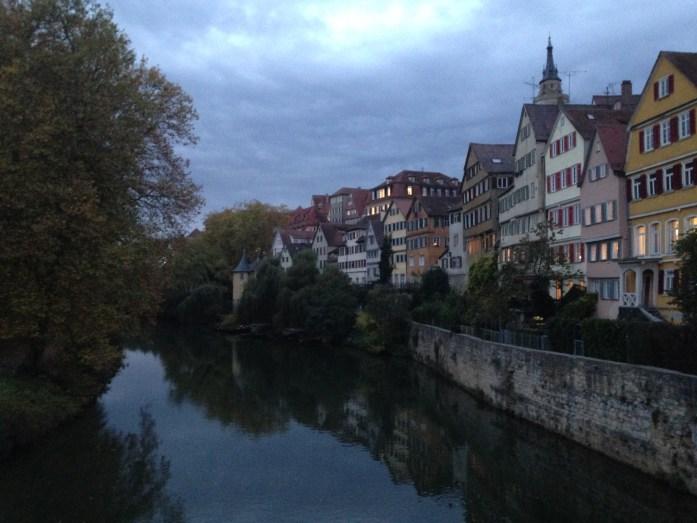 El rio Neckar, en Tubingen