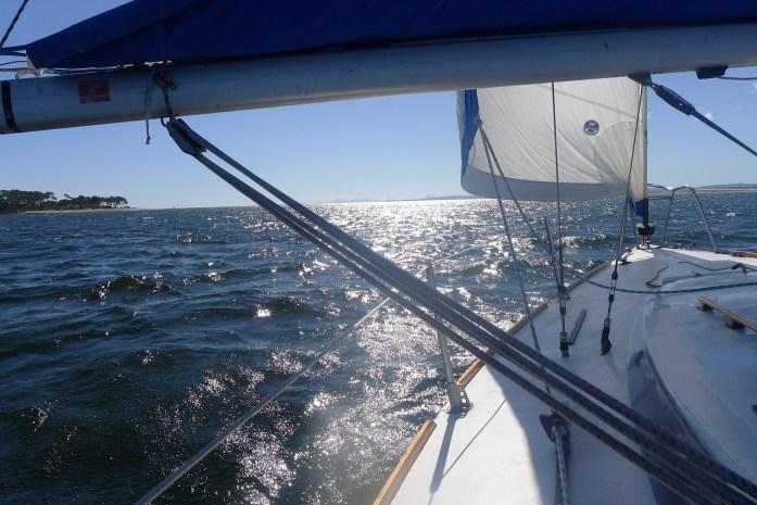 Navegando con amigos en Punta del Este