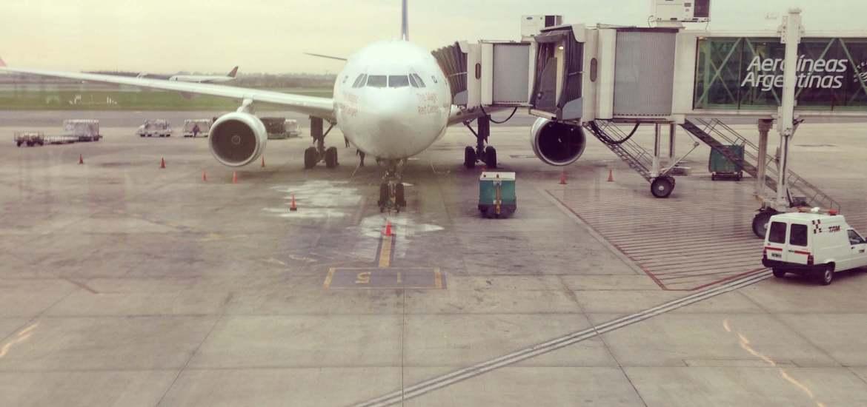 viaje largo en avión