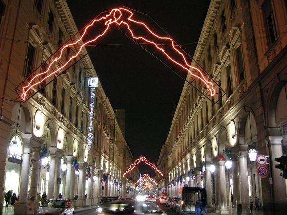 Torino,_via_roma_di_notte