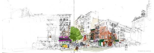rue east side couleur