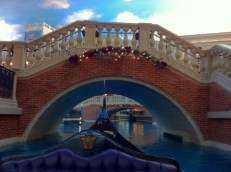 Gondola ride inside the Venetian