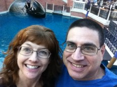 Randy and I take a gondola ride at the Venetian.