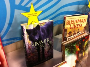 Fun to see client Polly Carlson-Voiles' Summer of the Wolves book on display!