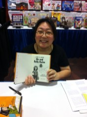 Janet Wong signs her Me and Rolly Maloo for me