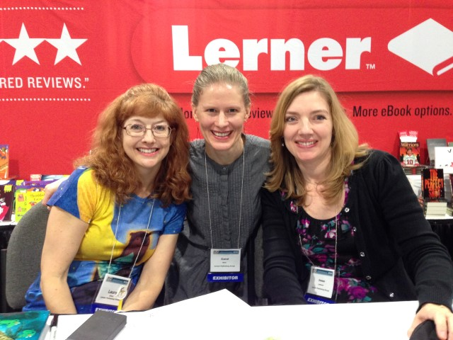 Laura Purdie Salas, Millbrook Editorial Director Carol Hinz, and Irene Latham
