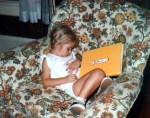 This was my favorite reading chair when I was a kid. Apparently, it wasn't bad for napping, either!