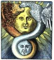 Book illustration from Azoth ou le moyen de faire l'oder Cache des Philosophes (Paris) 1659 by Basil Valentine (public domain)