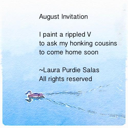 August Invitation Photopoem