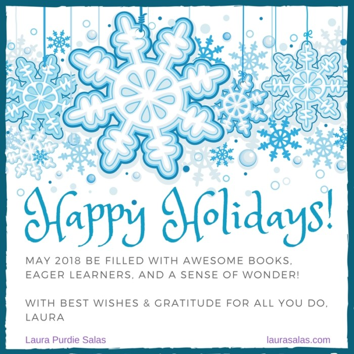 Happy Holidays 2017 for teachers