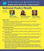 National Poetry Month Twitter Chat