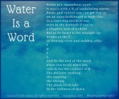 Water Is a Word