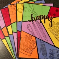 Happy Crafting Comic Card!