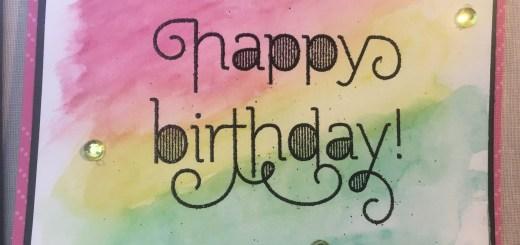 Birthday Watercolor Card