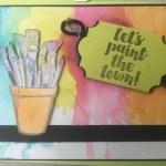 crafting forever watercolor splash background