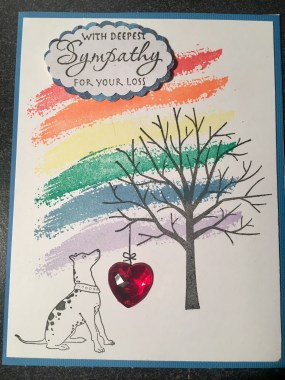 Dog sympathy card rainbow bridge