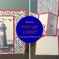 Pop-up Nautical Lighthouse Card