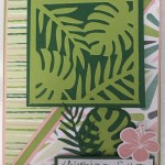 Tropical Chic Fun Fold Card 1
