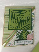 Tropical Chic Fun Fold Card 2