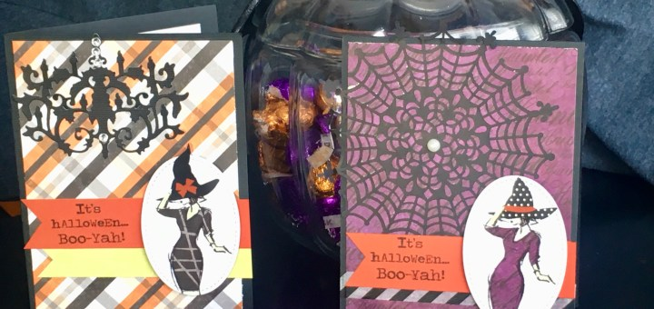Halloween cards made with the beautiful you stamp set