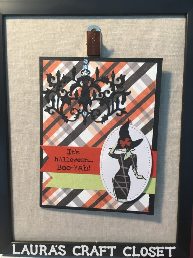 Halloween card made with the Stampin Up Beautiful you stamp set and orange DSP
