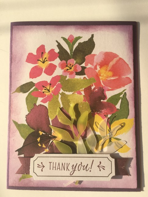 alternative thank you card using aug 2018 paper pumpkin blissful blooms kit