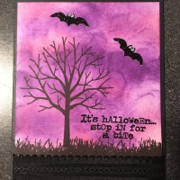 Spooky Tree Card for Halloween using the Stampin Up Sheltering Tree set!