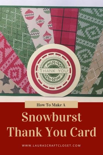 SnowburstThank You Card