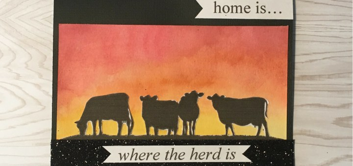 cow silhouette card