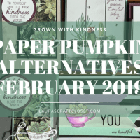 Paper Pumpkin Alternatives - Grown with Kindness Feb 2019 Succulents