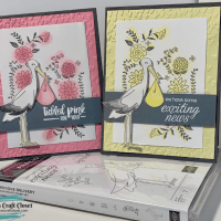 Stork Precious Delivery Baby Announcement Card