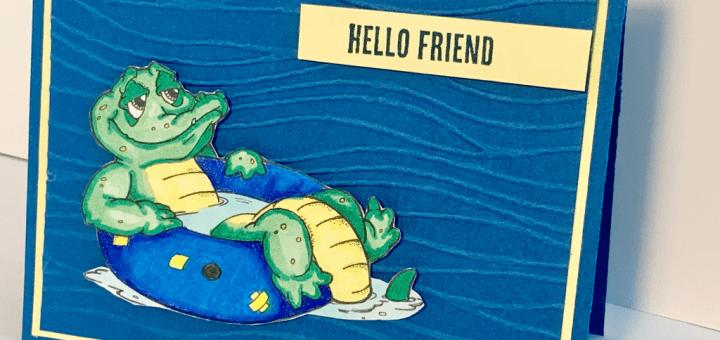 floating gator card