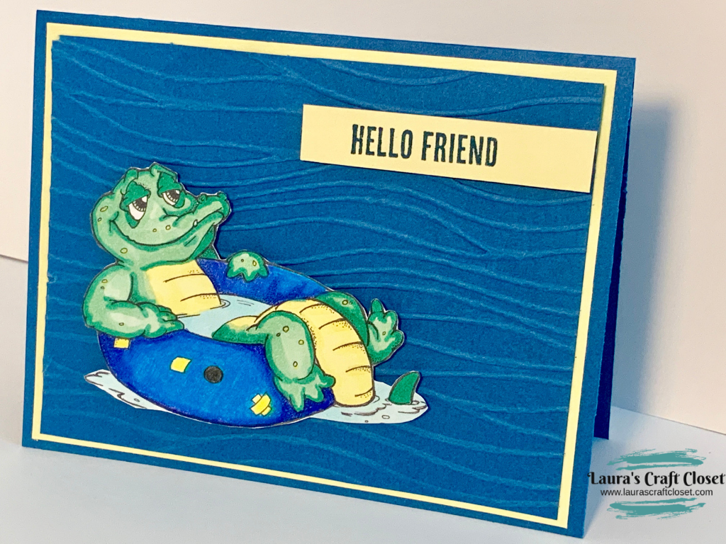 floating gator card